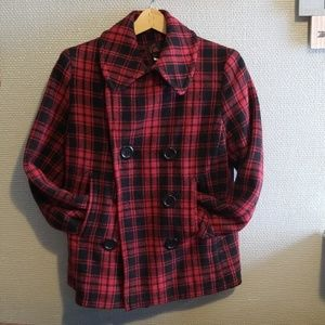 Plaid peacoat